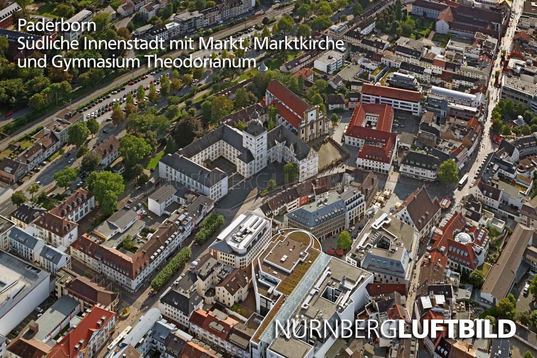 paderborn markt marktkirche und gymnasium theodorianum. Black Bedroom Furniture Sets. Home Design Ideas