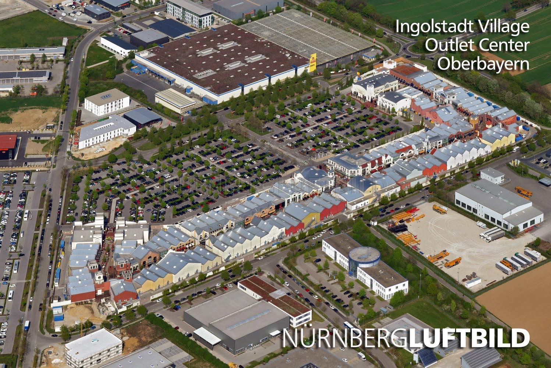 Ingolstadt Village Outlet Center, Oberbayern, Luftaufnahme