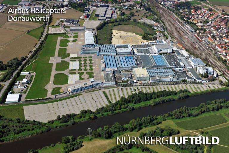 Airbus Helicopters, Donauwörth, Luftaufnahme
