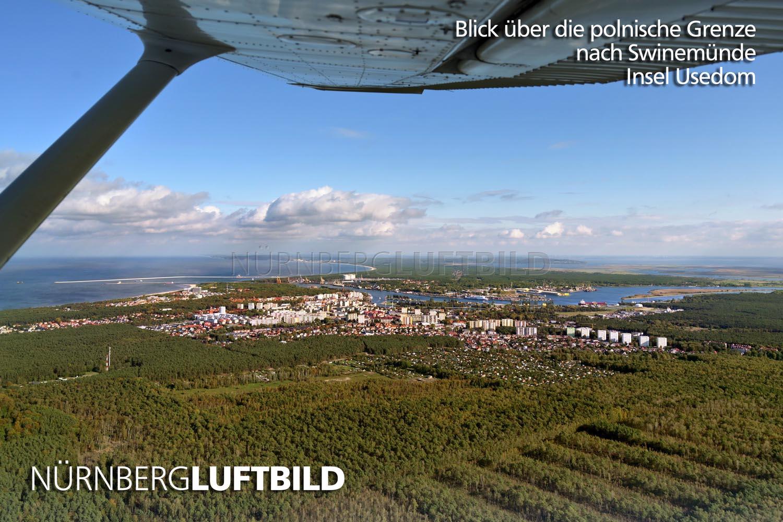 Blick Uber Die Polnische Grenze Nach Swinemunde Insel Usedom