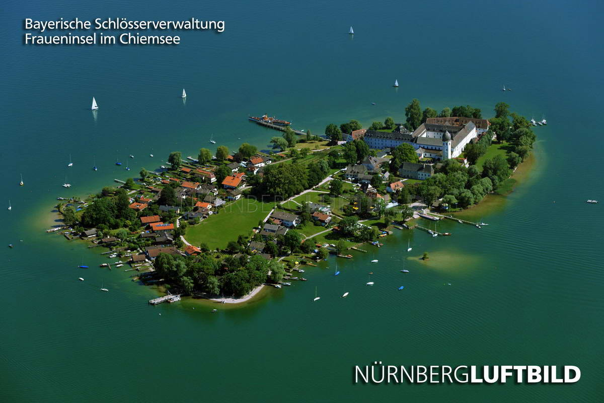 Fraueninsel im Chiemsee, Luftbild