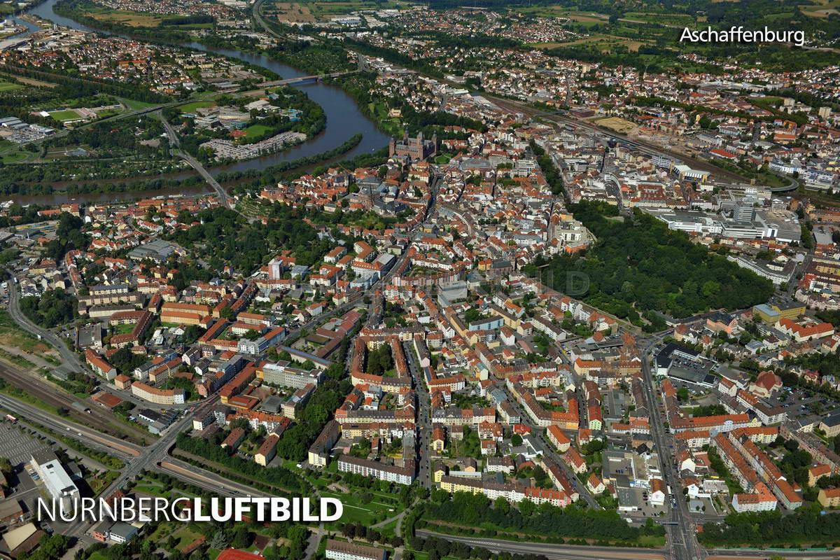 Aschaffenburg, Luftaufnahme