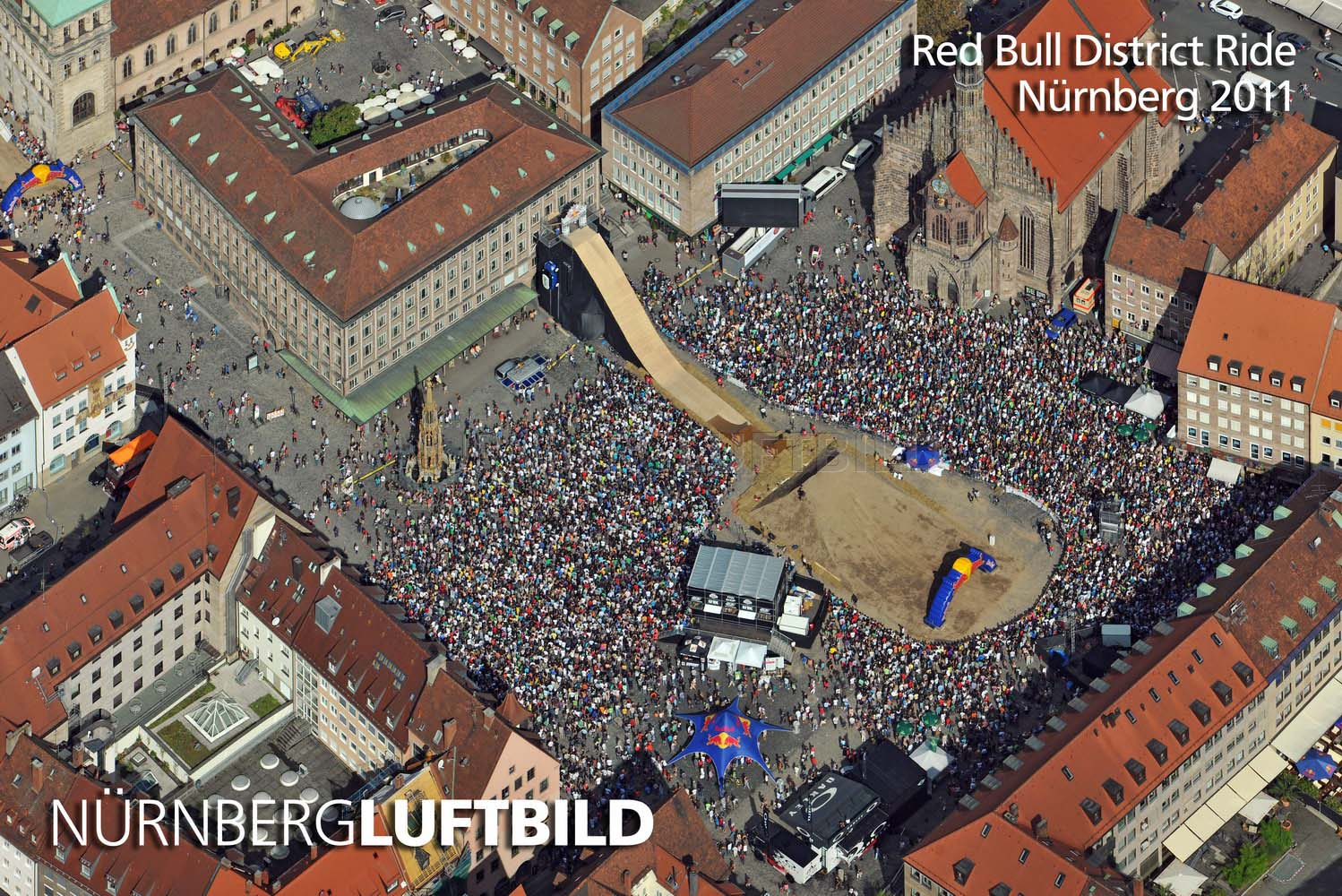 Red Bull District Ride, Nürnberg 2011, Luftaufnahme