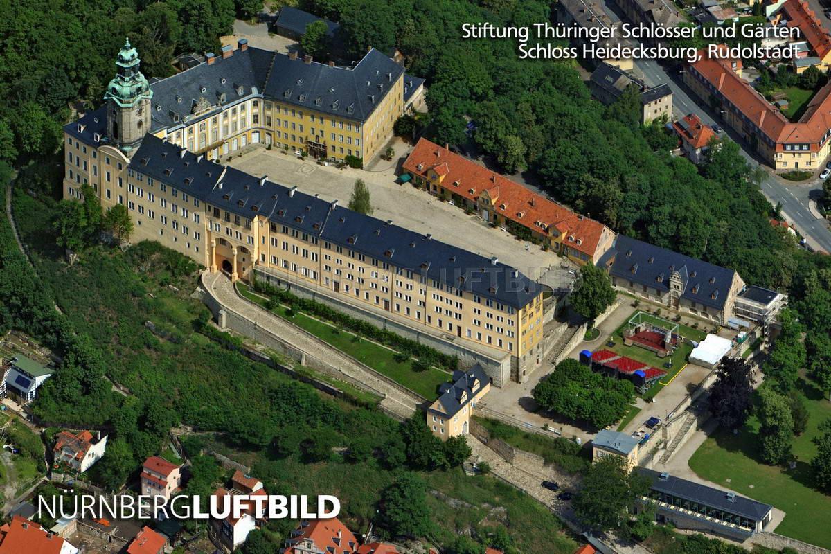 Schloss Heidecksburg Rudolstadt Luftaufnahme