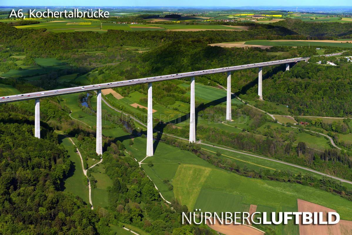 Zeitgeist Hringen a6 kochertalbrücke luftaufnahme