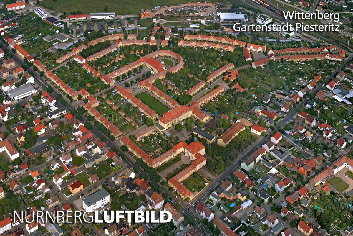 Renovierung Nürnberg wittenberg gartenstadt piesteritz luftaufnahme