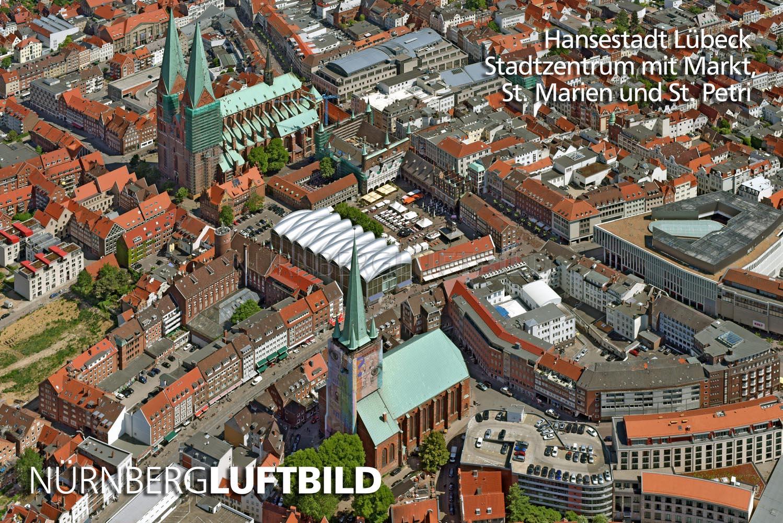 Gründerviertel Lübeck lübeck stadtzentrum mit markt luftbild