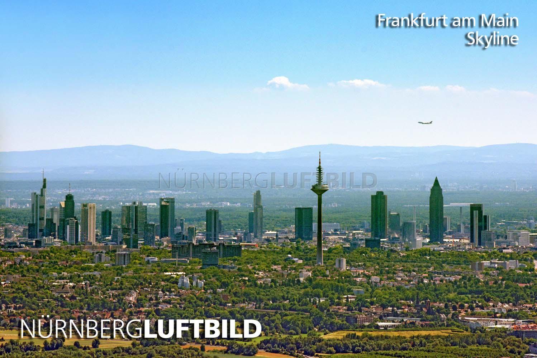 skyline von frankfurt am main luftaufnahme. Black Bedroom Furniture Sets. Home Design Ideas