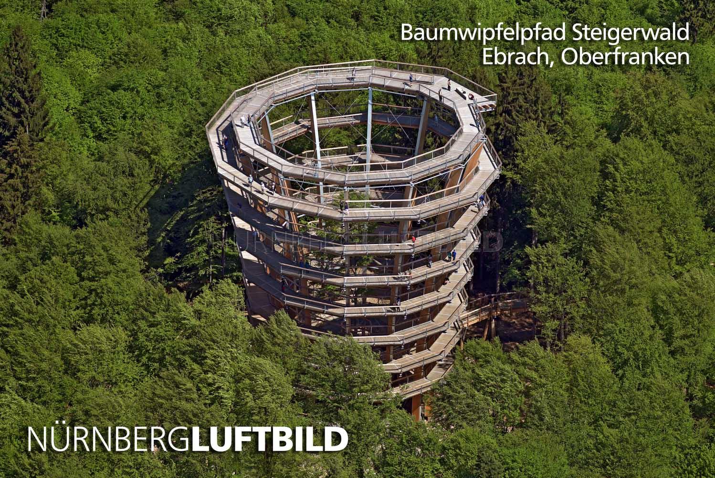 Badmöbelhersteller baumwipfelpfad steigerwald ebrach luftaufnahme