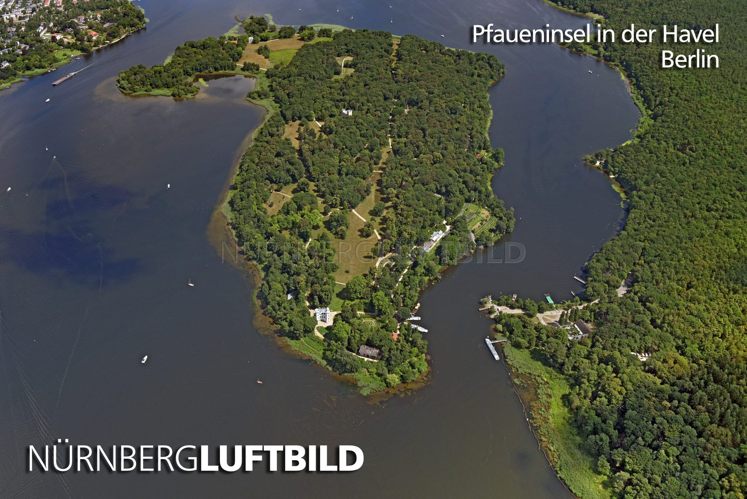 Pfaueninsel in der Havel, Berlin, Luftbild