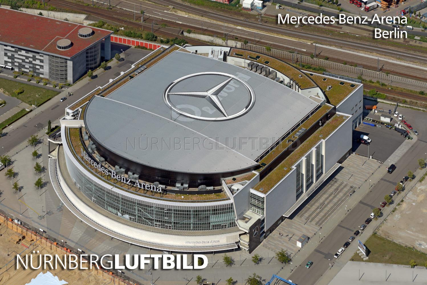 mercedes benz arena berlin luftaufnahme. Black Bedroom Furniture Sets. Home Design Ideas