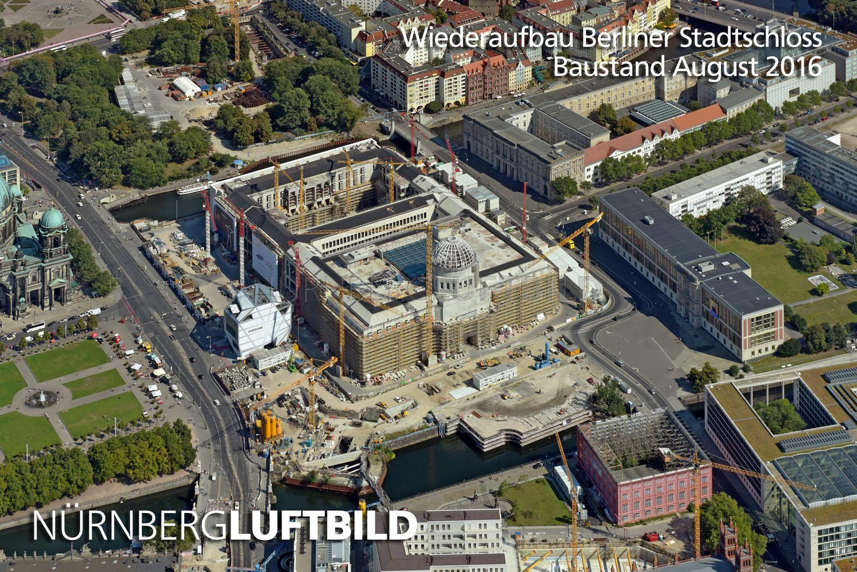 Wiederaufbau Berliner Stadtschloss Luftaufnahme