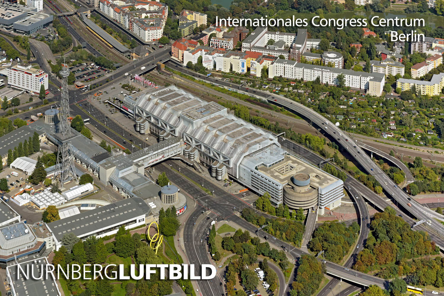 Internationales Congress Centrum, Berlin, Luftbild